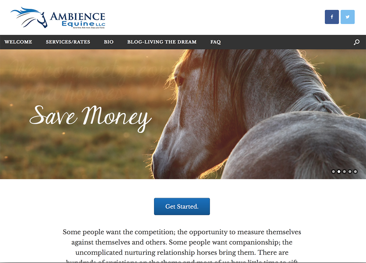 Ambience Equine, BigStar Creative, cover1